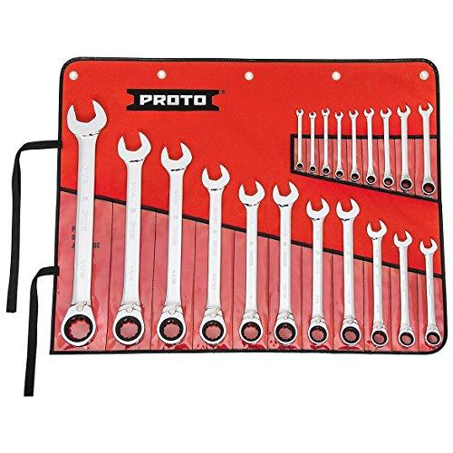 (Stanley Proto Industrial JSCVT-20S Full Polish 12 Point Reverse Ratchet Wrench 20 Piece)