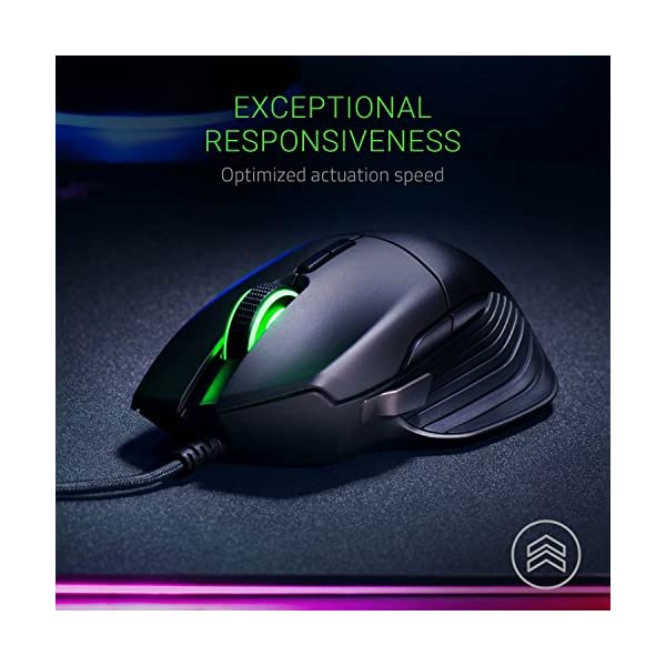 Razer Basilisk Gaming Mouse: 16,000 DPI Optical Sensor - Chroma RGB Lighting - 8 Programmable Buttons - Mechanical…