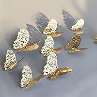 Magico's set 12 3D Vlinders Decoratieve muurstickers, gemaakt van PVC ideaal om een artistieke touch te geven aan je…