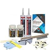 DIY Drill Foundation Crack Repair Kit - Polyurethane Foam - 1/16'' to 1/2'' Wide Cracks - Low-Pressure Injection Method (FLEXKIT-102X)