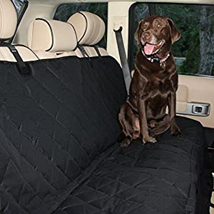 Just4Pets Auto Back Rear Seat Barrier, Quilted Waterproof Hammock Style Car Seat Cover for Dogs