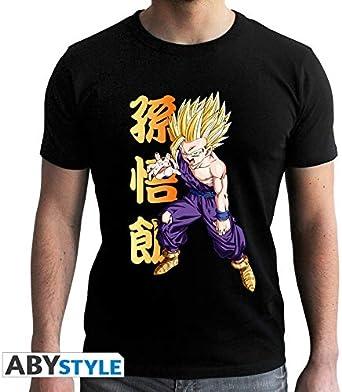 ABYstyle - Dragon Ball - Camiseta - Gohan - Hombre - Negro (S): Amazon.es: Ropa y accesorios