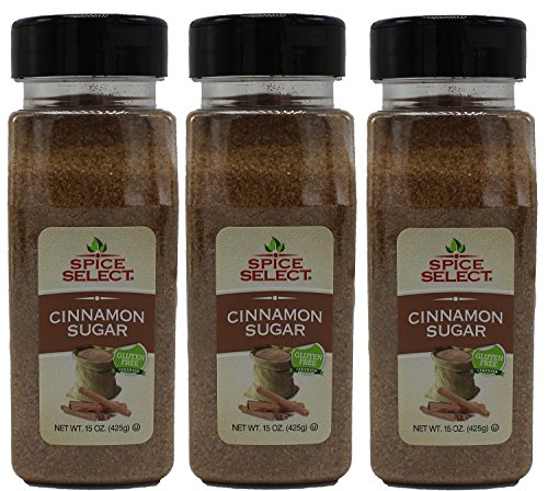 Chefs Select Culinary Cinnamon Sugar Value Size 15oz (Pack of 3 -Total of 2.8 Lb)