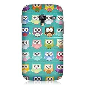 AIYAYA Samsung Case Designs Green Pattern Kawaii Owl Hard Back Case Cover For Samsung Galaxy Ace Plus S7500