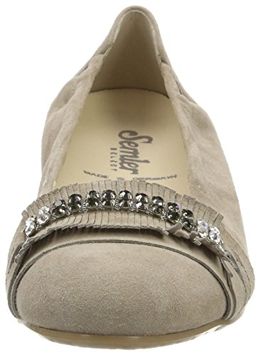Closed Beige Women's panna Flats 028 Toe Fabia Semler Ballet qYwBEqO