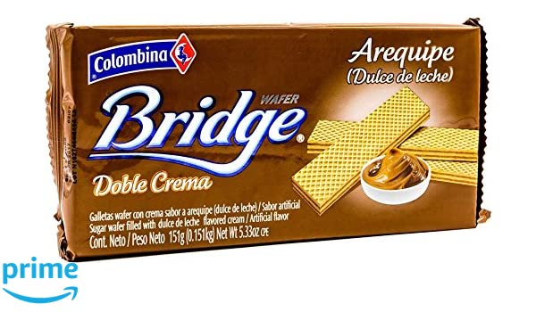 Amazon.com : Colombina Bridge Sugar Wafer (Pack of 24) : Grocery & Gourmet Food