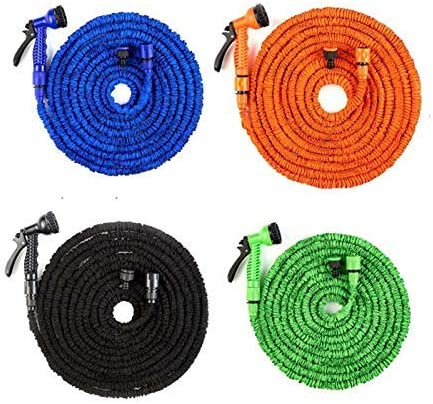 ZHTY Garden hose,25-200FT Expandable Flexible Garden Water Hose For Car Hose Pipe Plastic Hoses To Watering With Spray Telescopic Water Gun 50ft-Blue