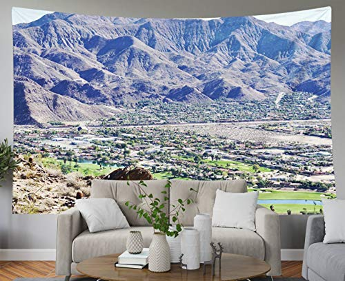 Shorping Father Gift Tapestry, 60x50Inches Home Wall Hanging Tapestries Art for Décor Living Room Dorm of Indian Canyon Golf Course in Palm Springs from Hiking Trails Desert Mountain