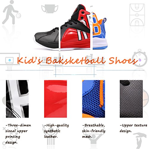 Basket Chaussures 2 Baskets Montantes Enfants De Basket ball Pour Garons noir Elaphurus D'extrieur Bottes Unisexes FFxnXp51qW