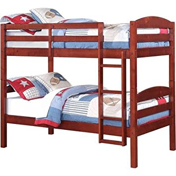 Mainstays Twin Over Wood Bunk Bed Multiple Finishes