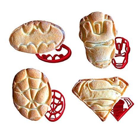 Superhéroe de galletas, 4 piezas para una mayor diversión para hornear – incluye Ironman Superman