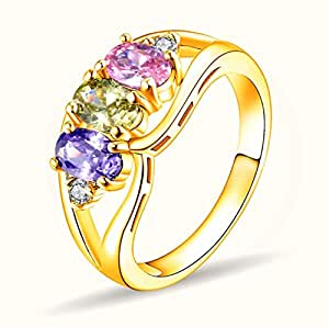 Color Crystal Luxury Women Wild Ring