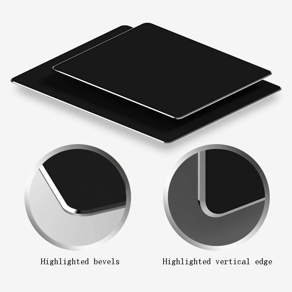 Color : Black, Size : 3024cm DNZMJRD Metal Mouse Pad Aluminum Alloy Game Pad Notebook Hard Office Household Table Mat Waterproof Resin Surface Mouse Pad