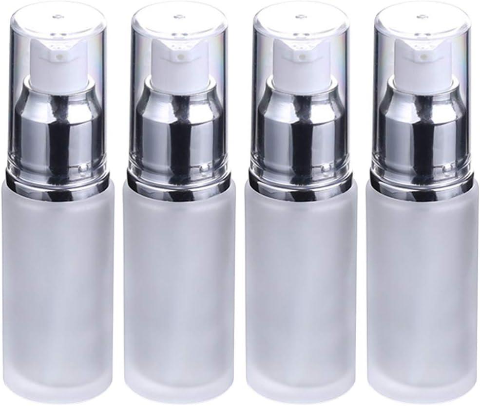 Beaupretty 4 Piezas 25 Ml Botella de Plástico Transparente Recargable Vacía Botella de Champú Botellas de Muestra de Maquillaje Botellas de Viaje Desechables para Loción Jabón Líquido