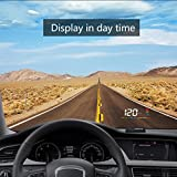 """3.5"""" HUD Heads Up Display for Speed (mph and km/h), Temperature and Driver Fatigue"""