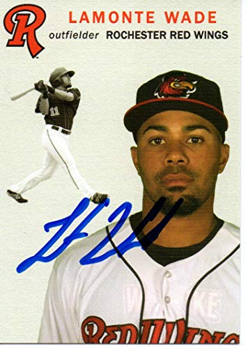 LaMonte Wade 2018 Rochester Red Wings SGA Update Autographed Signed Card