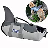 Newest Dog Life Vest Summer Pet Dog Life Jacket Cute Mermaid Shark Dog Costume Quality Puppy Safety Clothes S/M/L (S, Grey)