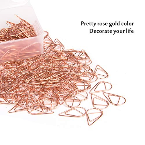 250 Premium Cute Paper Clips Rose Gold Stainless Stell Wire Paper Clips in Durable Box Holder for Office Supplies Women Girls Kids (1 inch) by DeedyGo (Image #5)