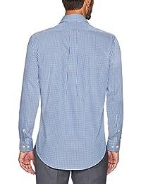 Abotonado Camisa de vestir con diseño de cuello botón corte clásico para hombre, no necesita planchado
