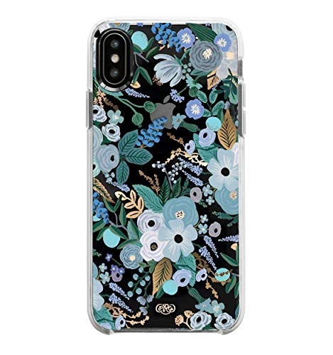 - Rifle Paper Co. Phone Case Compatible with iPhone X/XS - Garden Party Blue