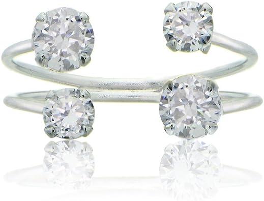 Adjustable two stone loop ring