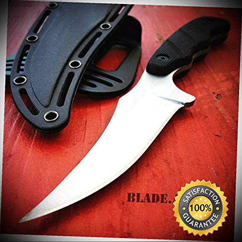 9'' SURVIVAL KNIFE Hunting Skinner MILITARY Fixed Blade Rambo Bowie - Outdoor For Camping Hunting