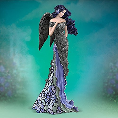 The Bradford Exchange Angelic Moonlit Beauty Figurine Moonlight Garden Angels of Tiffany Collection