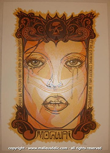 2009 Mogwai - Singapore Silkscreen Concert Poster by Malleus