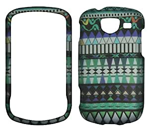 New Blue Tribal Samsung U380 Brightside Verizon Wireless Case Cover Hard Phone Case Snap-on Cover Rubberized Frosted Matte Surface Hard Shells