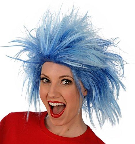 Kangaroos Funky Spiky Blue Wig Costume Wig
