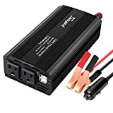 Car Power Inverter 700W Car Inverter DC 12V to 110V AC Converter Devel Car Charger Adapter 4.2A Dual USB Ports for Laptop, Smart Phone(Black_700W)