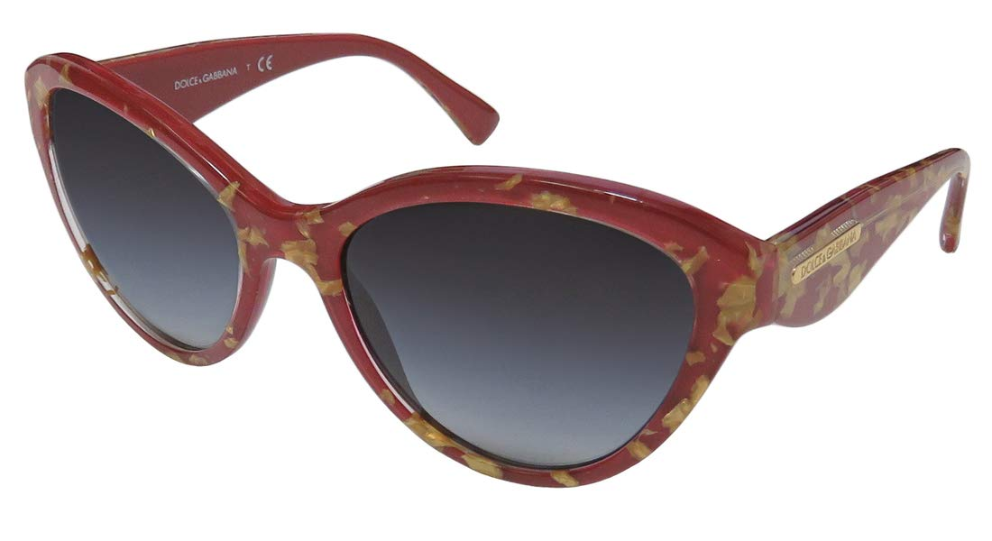 Dolce Gabbana 4199 Womens/Ladies Cat Eye Full-rim Gradient Lenses Stunning Color Combination Stylish Hot Sunglasses/Sun Glasses (55-18-135, Burgundy/Gold)