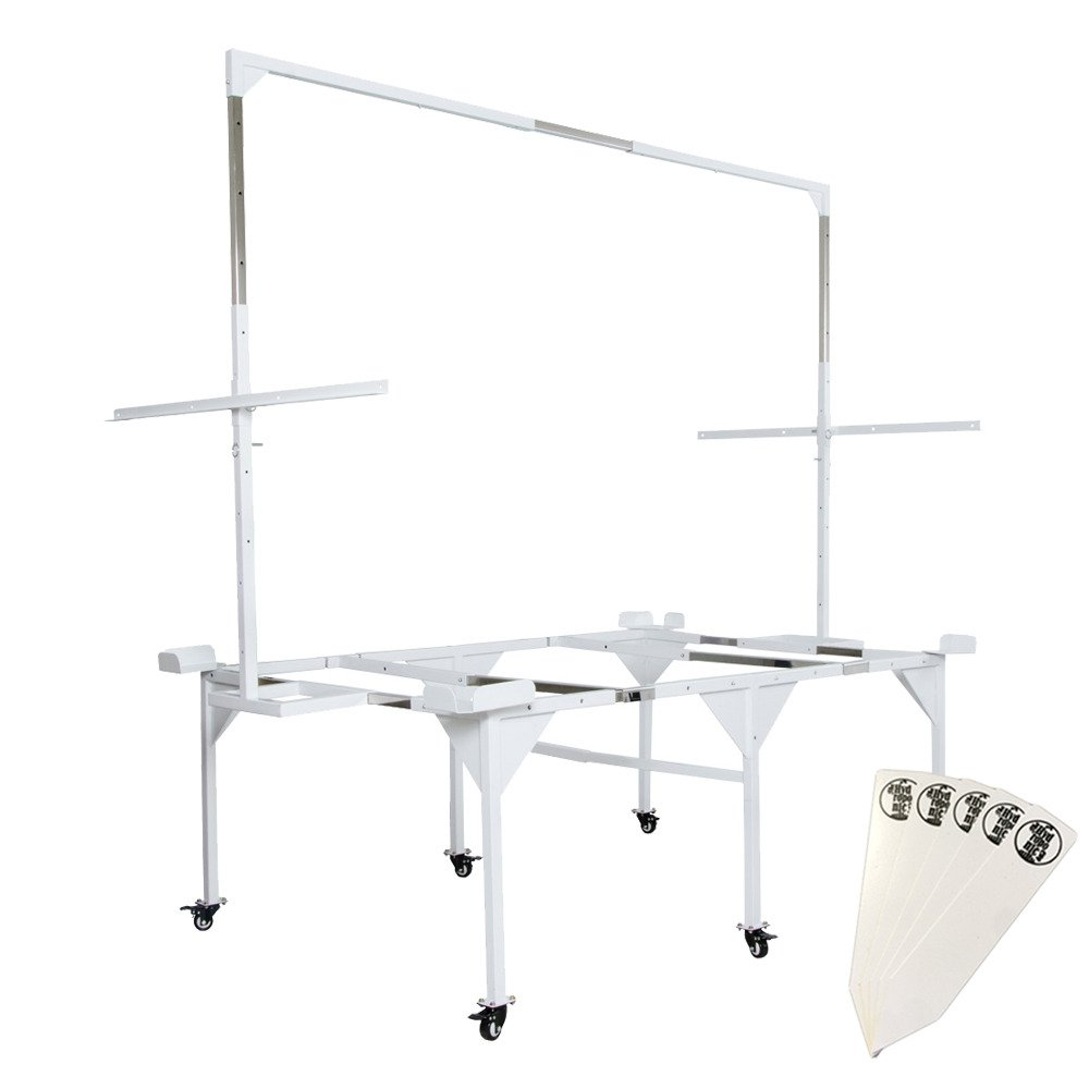 Active Aqua Universal Tray Stand & Light Hanger for Active Aqua 3'x 6' / 4' x 6' / 4' x 8' Flood Tables, Large + Stakes by The Hydroponic City