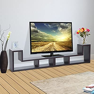 Modern Console Table TV Stand Variety of Display Ways Home Entertainment Brown