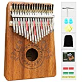 Kalimba 17 Keys Thumb Piano with Study Instruction and Tune Hammer, Portable Mbira Sanza African Wood Finger Piano, Gift for Kids Adult Beginners Professional.: more info