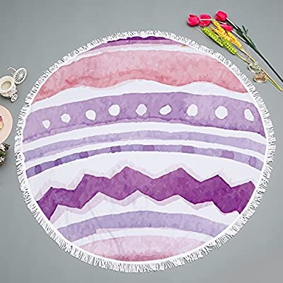 Toalla De Playa Redonda / Microfibra Con Borla De Impresión Toalla De Playa De Serie De Navidad / Tapete De Picnic De Chal De Playa, A1.150 * 150 Cm