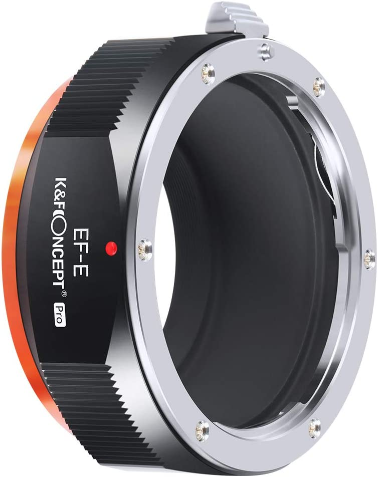 K&F Concept Adaptador Lentes Compatible para Canon EOS EF EF-S a Montura Sony E NEX Mount para A6000 A6500 A6300 A5100 A5000 A 7 III A7riii A7S