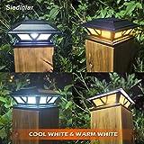 Siedinlar Solar Post Lights Outdoor 2 Modes LED