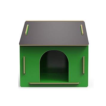 Caseta para Mascotas Nido de Madera al Aire Libre en una Perrera Grande. Casa de Perro Teddy Wo Cuatro Estaciones Universal - pequeña - Verde: Amazon.es: ...