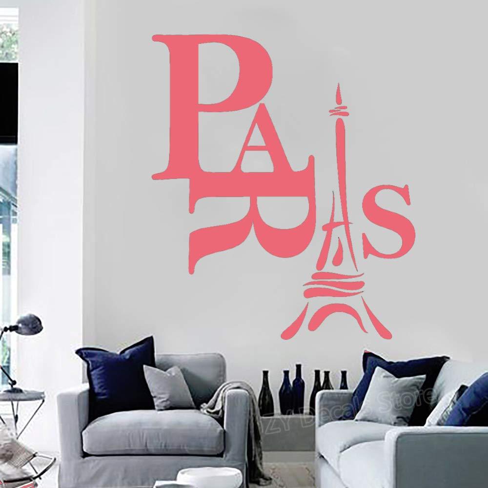 Paris Vinilo Tatuajes de pared Sala de estar Decoración del hogar ...