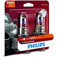 Philips 9008 X-tremeVision Upgraded Headlight Bulb with...
