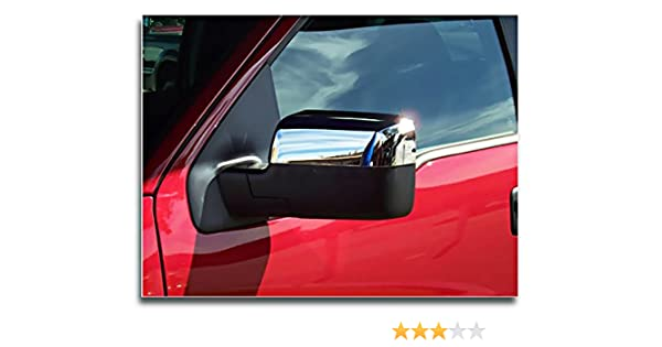 Chrome Top Half Mirror Cover MaxMate Fits 04-08 Ford F150 Not for Heritage