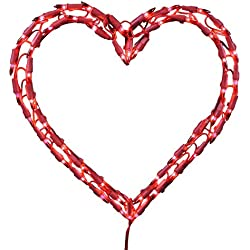 Kurt Adler Heart Window Décor, 12-Inch, Red