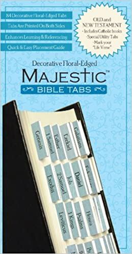 Majestic Floral Edged Bible Tabs by Ellie Claire