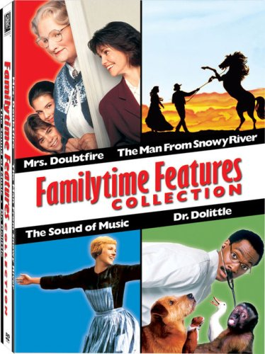 Familytime Features Box Set (The Sound of Music / Dr. Doolittle / Mrs. Doubtfire / The Man From Snowy River)