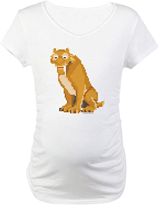 8a92e541a0b9 Amazon.com: CafePress Ice Age 8-Bit Diego Cotton Maternity T-Shirt ...