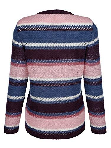 Dress In In In Damen Pullover mit Lochmuster Indigo/Rosé/Rosenh dXCFHCPCpe
