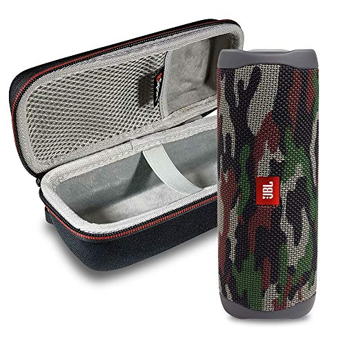 JBL FLIP 5 Portable Speaker IPX7 Waterproof On-The-Go Bundle with gSport Deluxe Hardshell Case (Green Camo)