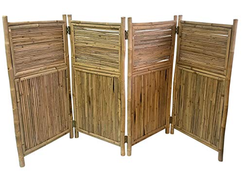 Master Garden Products MGP Four Panel Bamboo Screen Enclosure 24 by 48-Inch (Bamboo Screen Fence)