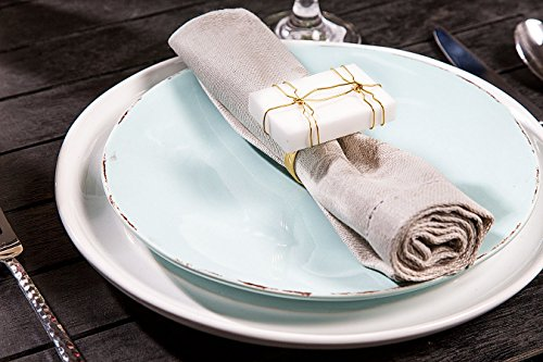 James Scott Gold & White Bar Napkin Rings Set of 4 for Dinning Table Parties Every Day All Ring Sets are Presented in a Luxury Gold Gift Box!